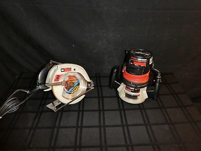 "Lot Of 2 Sears /  Craftsman Power Tools, 7 1/4"" Circular Saw + Router (390)"