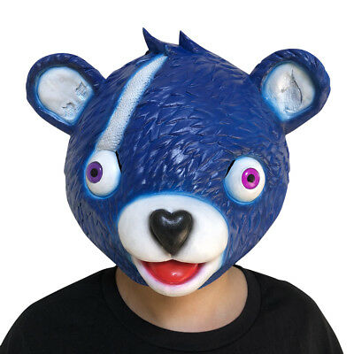 Erwachsenes Kind Fortnite Maske Cuddle Team Leader Bear Game Head Mask Halloween