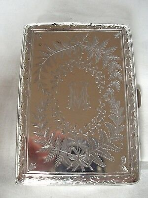Card Case Victorian Sterling Silver London 1876