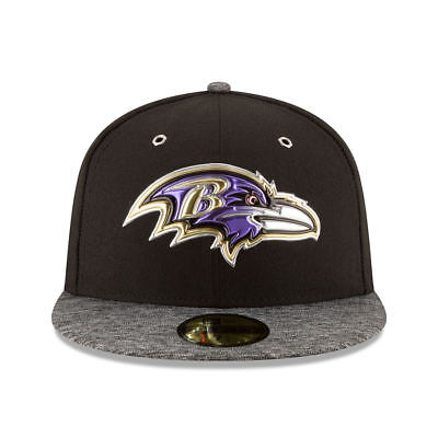 Baltimore Ravens New Era NFL Draft On Stage Fitted Flat Bill Brim Men s Hat  Cap 626215812