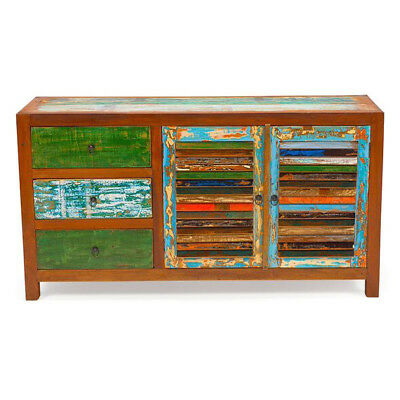 Sea Saw Reclaimed Wood Cabinet