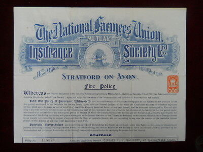 National Farmers Union Insurance Society, Fire Policy, 1928 (Camberley interest)