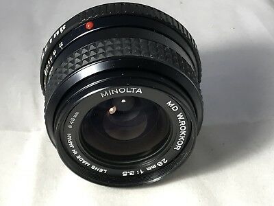 Minolta MD 28mm F3.5 M/F Wide Angle Lens - Crystal Clear Glass