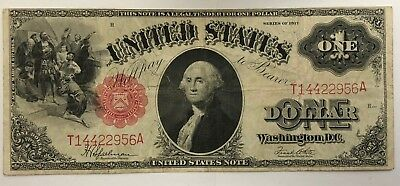 Series of 1917 One Dollar $1 U.S. Large Size Legal Tender Note