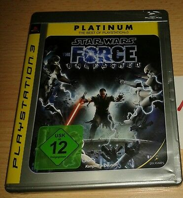 Star Wars - The Force Unleashed Platinum Sony PlayStation 3 PS3 mit Anleitung
