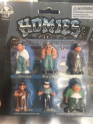 New in original package Lot of 6 Original Set  HOMIES Figures Figurine