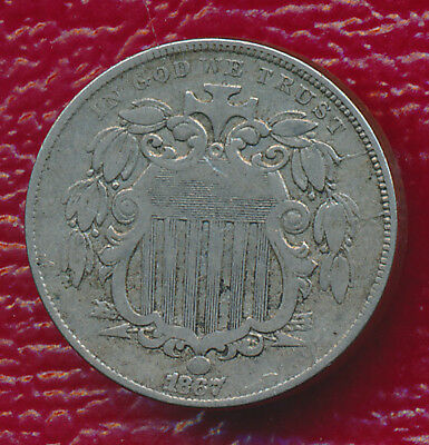 1867 With Rays Shield Nickel **very Light Circulation** Free Shipping!