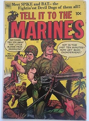 Tell It To The Marines #1 Tobby  Press March 1952