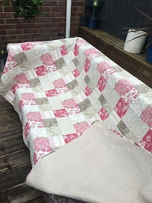 Catherine Lanesfield Quilted Patchwork Bedspread 220Cm X 220Cm Double