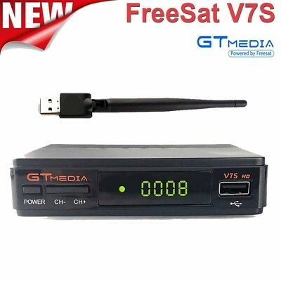 GTMEDIA V7S HD DVB-S2 Satellite Receiver FTA Digital Decorde Support +USB WIFI