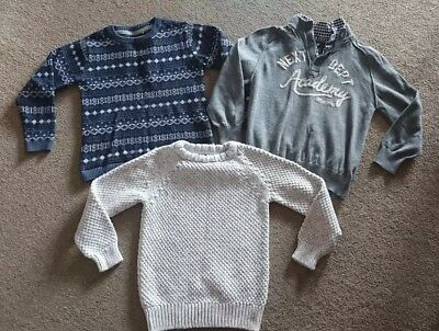 Small Bundle of 3 NEXT boys Jumpers / Sweaters. Age 5-6 years. Autumn/Winter.