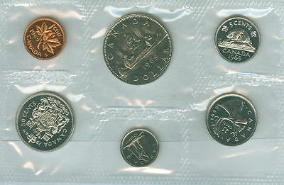1969 PL Proof-Like 6 Coin Gift Set Royal Canadian Mint '69 RCM Dollar Penny Dime