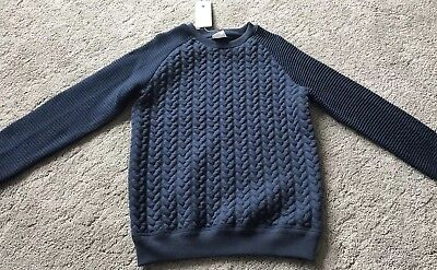 BNWT F&F Boys Navy Blue Sweater Jumper Tracksuit Top 8-9 Years
