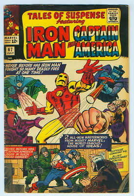 July 1965 Tales Of Suspense Iron Man Captain America No. 67 Comic Book