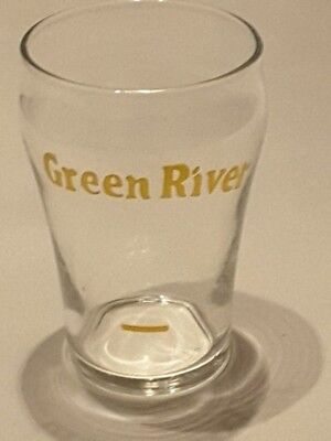 Vintage Green River Soda Sample Fountain Glass in Excellent Condition!