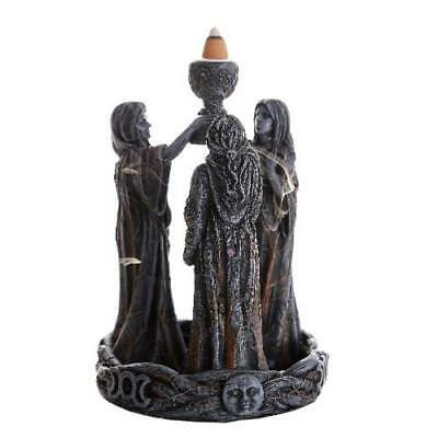 Maiden Mother Crone Statuette with Backflow Incense Burner!