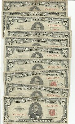 1963 $5 United States Notes Lot