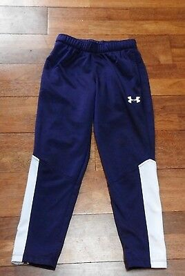 Boys Under Amour Blue/white Sweat Exercise Pants Size  Youth Small Euc