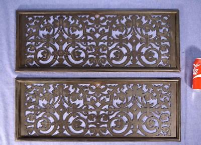 French Antique Neoclassical Solid Bronze Panels/Grilles