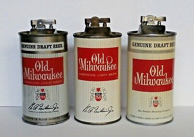 3 Diff - Old Milwaukee Beer Can Lighters - Milwaukee, Wisconsin