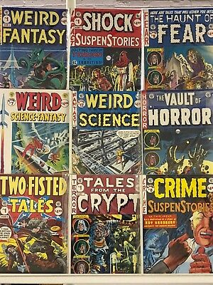 EC Horror Reprints Oversized Comics Huge Lot 9 Comic Book Collection Set Run 1