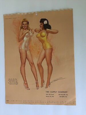 mac PHERSON - jul 1950  illustrated  PIN-UP/CHEESECAKE  sketchbook CALENDAR page