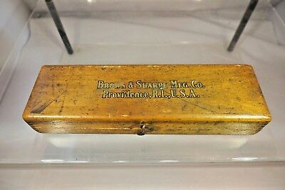 Vintage Brown & Sharpe Mfg. Co. Providence R.I. Unknown Tool in Wooden Box