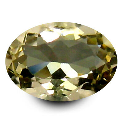 0.66 ct AAA Remarkable Oval Shape (7 x 5 mm) Yellow Heliodor Beryl Gemstone