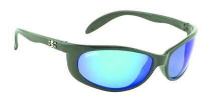 122e70005d Calcutta SK1BM Smoker Sunglasses Shiny Black Blue Mirror 60mm Lens