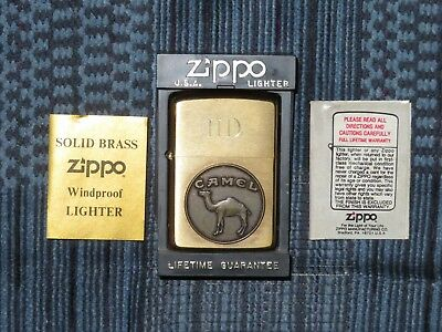 Vintage 1932-92 BRASS Zippo Lighter CAMEL Circular Medallion Anniversary UNFIRED