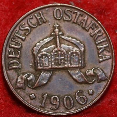 1906 German East Africa 1/2 Heller Foreign Coin