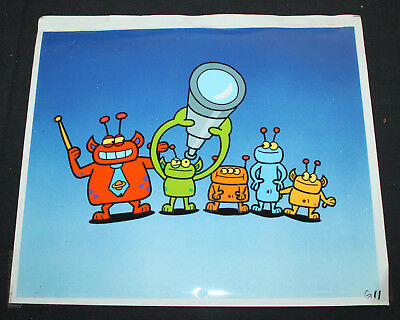 JERRY WEIST ESTATE: Sesame Street Animation Cel Aliens Looking at the Moon