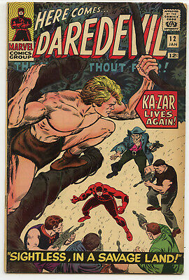 JERRY WEIST ESTATE: DAREDEVIL #12 (Marvel 1966) VG+ Romita! Ka-Zar!
