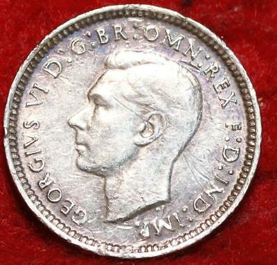 1942-D Australia 3 Pence Silver Foreign Coin