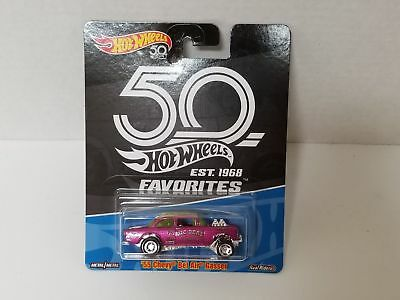 Hot Wheels FAVORITES, '55 CHEVY BEL AIR GASSER, Real Riders 50th Anniversary