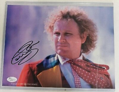 Colin Baker Dr. Who Signed Autograph 8 x 10 JSA Certified Sticker with COA Card