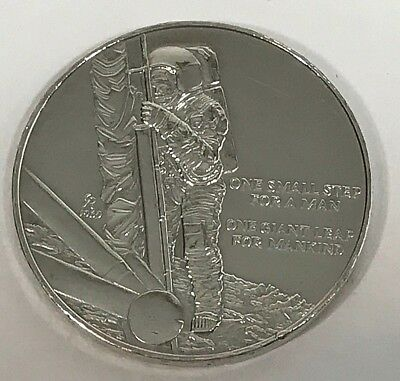 Apollo Silver  Medallion,  One small step for man, one giant step for mankind