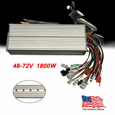 48-72V 1800W Electric Bicycle E-bike Scooter Brushless DC Motor Speed Controller