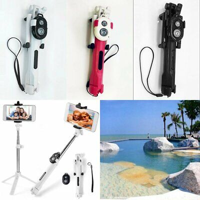 Extendable Selfie Stick Tripod Bluetooth with Remote Shutter For Smart Phone New