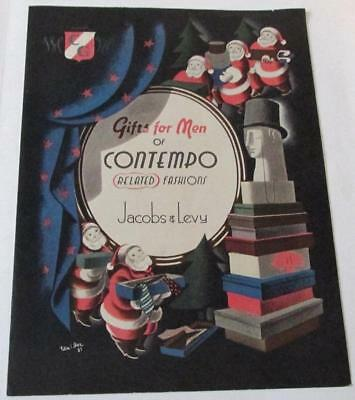1937 Jacobs & Levy Christmas Gifts For Men Of Contempo Fashions Catalog 7 Pages