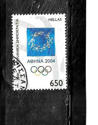 GREECE GREEK SC#1975 2000 650d OLYMPIC GAMES POSTALLY USED COMMEMORATIVE STAMP