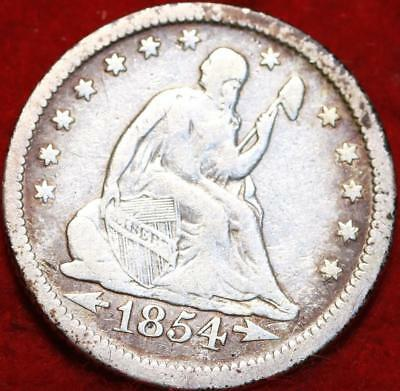 1854-O New Orleans Mint Silver Seated Liberty Quarter with Arrows