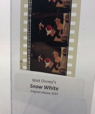 Disney Animation Authentic Film 5-Cell Strip SNOW WHITE Wicked Queen W/ Apple
