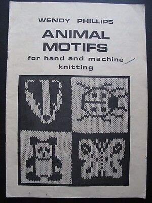 ANIMAL MOTIFS for hand and machine knitting by WENDY PHILLIPS
