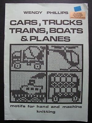 CARS, TRUCKS, TRAINS, BOATS & PLANES Motifs for hand & machine knitting
