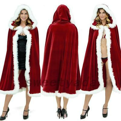 Celebrate Christmas Mrs Santa Claus Cloak Xmas Costume Cappa Cape Happy New Year