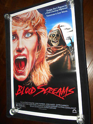 Blood Screams Horror   Original Rolled One Sheet Poster  Zombie