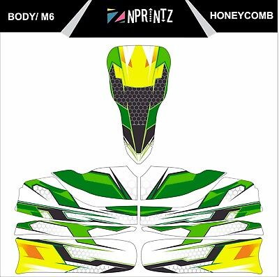 M6 Honeycombe Style Full Kart Sticker Kit To Fit M6 Body Tonykart