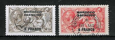 MOROCCO AGENCIES 1935-1936 Used Set of 2 Stamps SG #225-226 VF