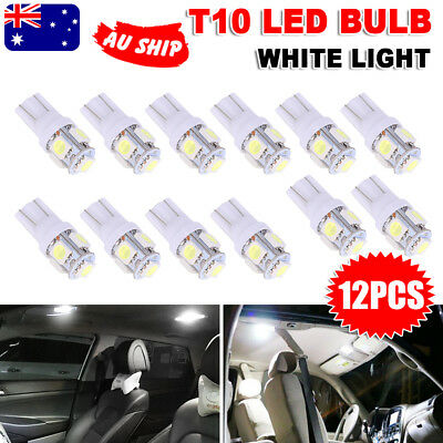 T10 LED Wedge Tail Side Parker Bulb Car Number Plate Light White 5050 SMD W5W
